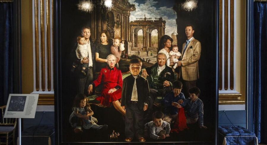 Thomas Kluges familieportræt af den kongelige familie.