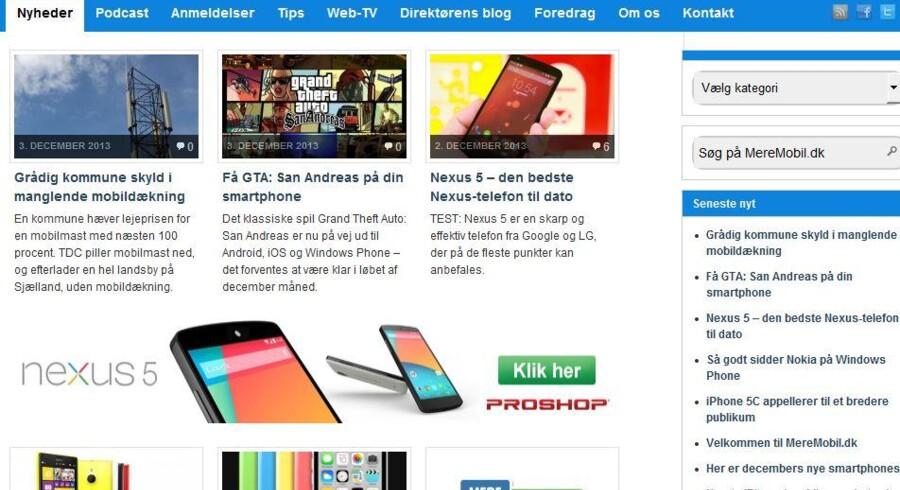 Et nyt mobilnetsted er i luften med MereMobil.dk.