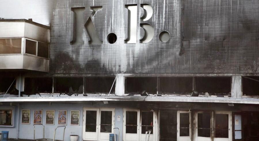 Facaden på KB-Hallen efter branden i september 2011.