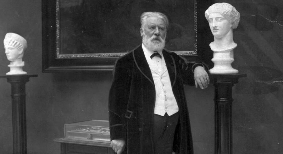 Carl Jacobsen arvede ikke faderen I.C. Jacobsens penge, men nok hans sans for billedkunst. Han og og hustruen Ottilia stiftede Ny Carlsbergfondet for 111 år siden og grundlagde dermed en af de største spillere i dansk kulturspil. Arkivfoto: Scanpix