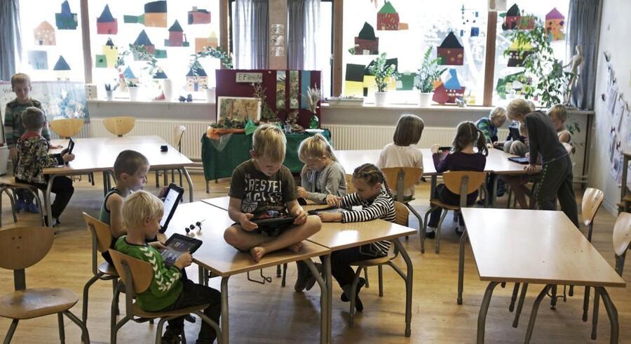 Bækkegårdsskolens SFO, hvor børnene har deres skole-iPads med.
