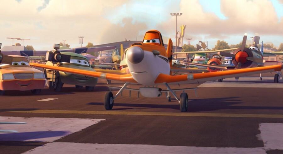I filmen »Flyvemaskiner« møder vi Dusty, som bl.a. lider af højdeskræk og en dårlig motor. Foto: Disney