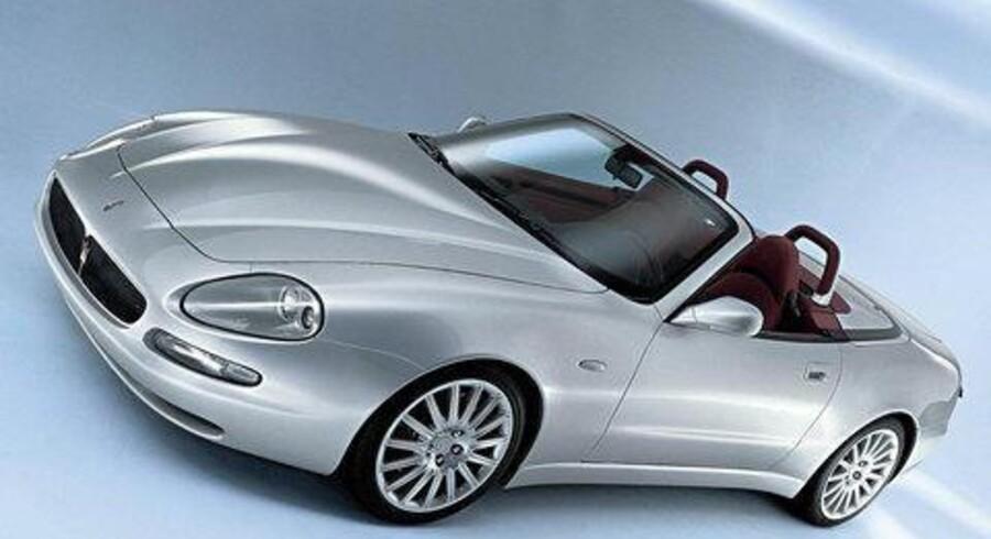 <CJ2>Den ny Spyder fra det nu Fiat-ejede Maserati har især adresse til playboys i USA. <br>Foto: Reuters/Scanpix