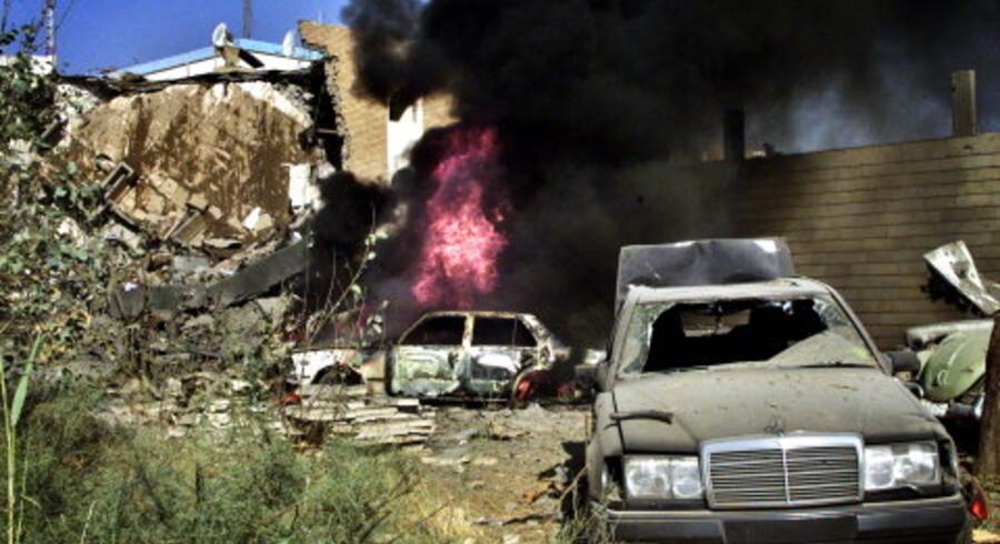 FNs hovedkvarter i Bagdad blev bombet til ukendelighed ved terrorangrebet i går. <br> Foto: Ceerwan Aljaf/Reuters <p><br>