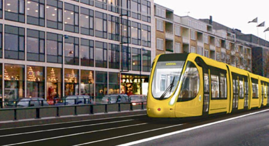 Måske kan en letbane som denne blive til virkelighed i København, hvor der ifølge trafikminister Lars Barfoed (K) er et analysearbejde i gang omhandlende en letbane mellem Lyngby og Brøndby.