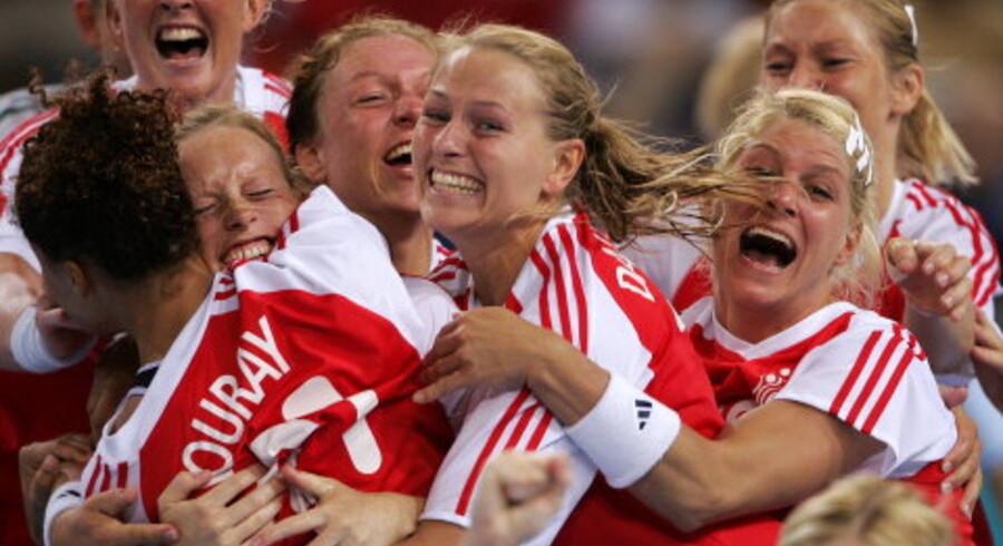 Jubel og lettelse efter højdramatisk  OL-guld sejr til Danmark.<br>Foto: Reuters