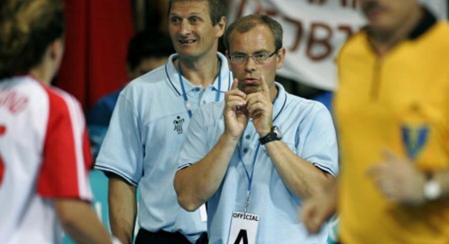 Jan Pytlick havde ansvaret for OL-holdet i Sydney og nu i Athen, men har svært ved at sammeligne de to hold med vinderholdet fra 1996. <br>Foto: Liselotte Sabroe