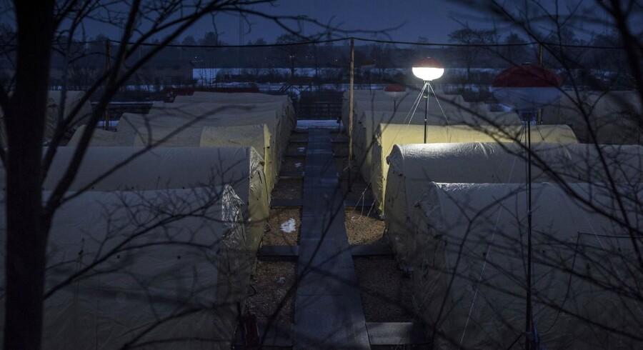 ARKIVFOTO: Teltlejr i Næstved.