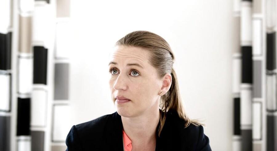 Arkivfoto: Socialdemokraternes formand, Mette Frederiksen, lover at det omdiskuterede omprioriteringsbidrag droppes, hvis hun bliver statsminister.