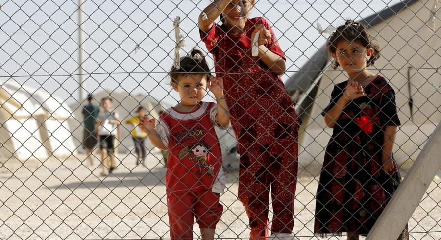 Børn i en flygtningelejr i den tyrkiske by Midyat.