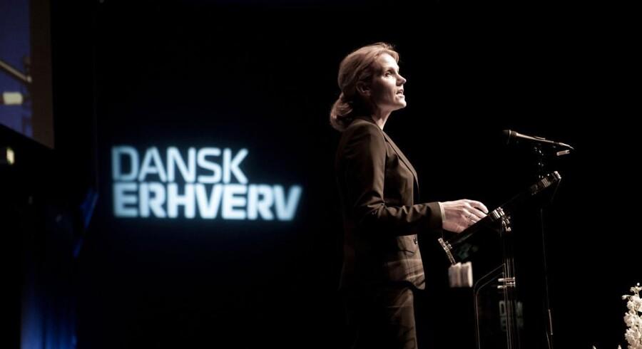 ARKIVFOTO: Thorning under tale for Dansk Erhverv i Bella Centret.