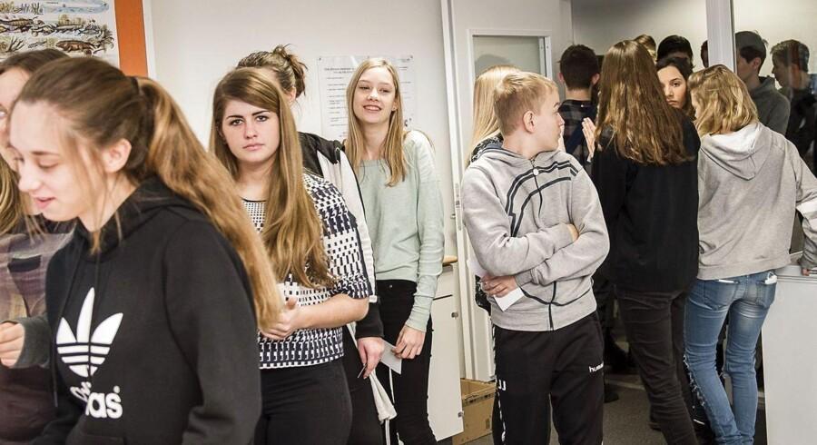 Skolevalg på Ringkøbing skole den 29. januar 2015.