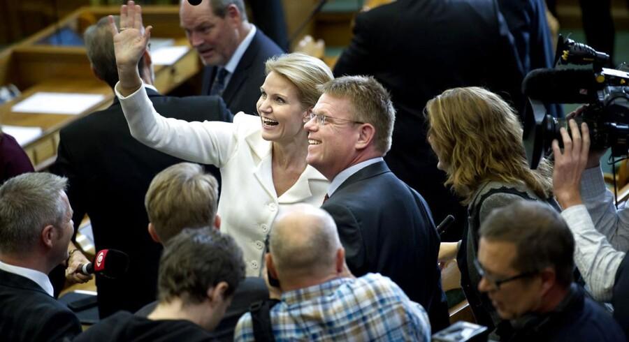 Arkivfoto: Helle Thorning-Schmidt og Torben Hansen ved Folketingets åbning tirsdag 2. oktobber 2012.