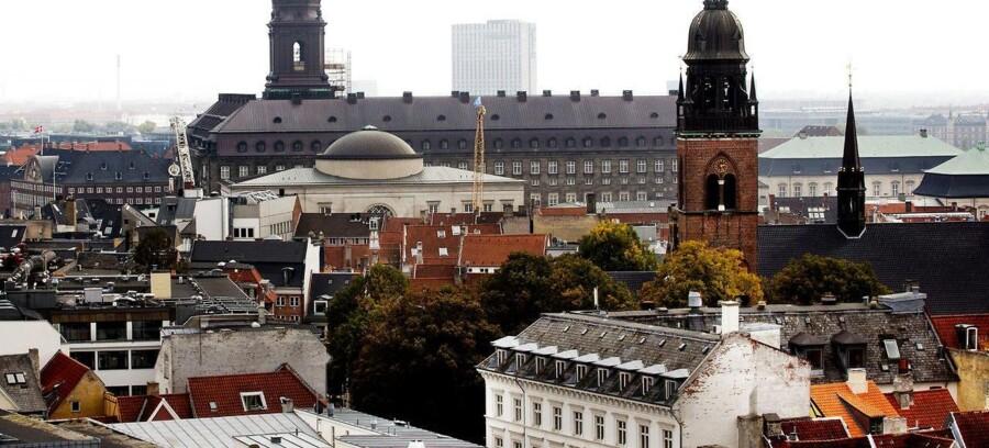 Christiansborg fotograferet fra Rundetårn.
