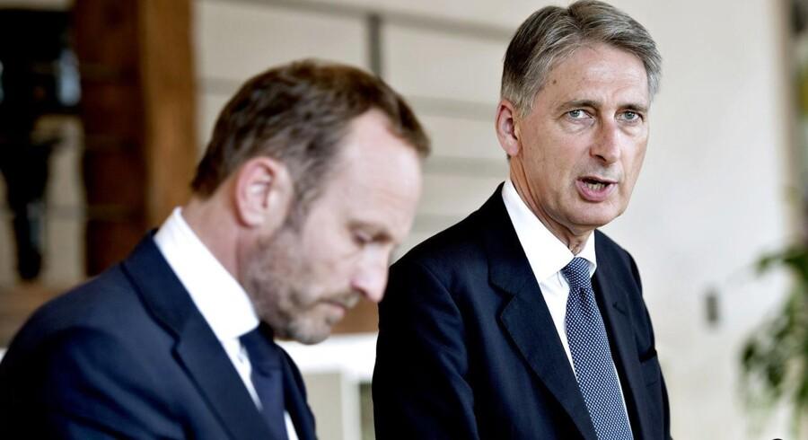 Udenrigsminister Martin Lidegaard møder Storbritanniens udenrigsminister Storbritanniens udenrigsminister Philip Hammond