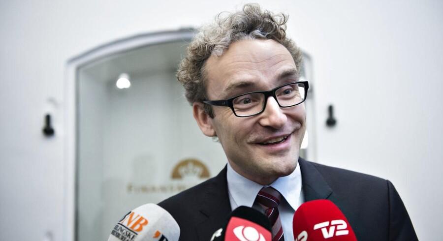 Arkivfoto. Liberal Alliances Ole Birk Olesen til sidste års finanslovforhandlinger. (Foto: Jens Nørgaard Larsen/Scanpix 2013)