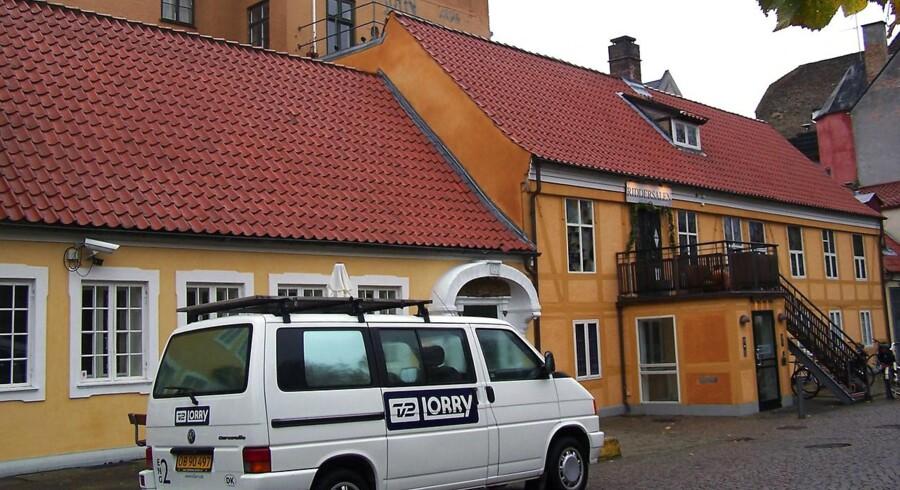 TV 2 Lorry på Pile Allé på Frederiksberg ved København.