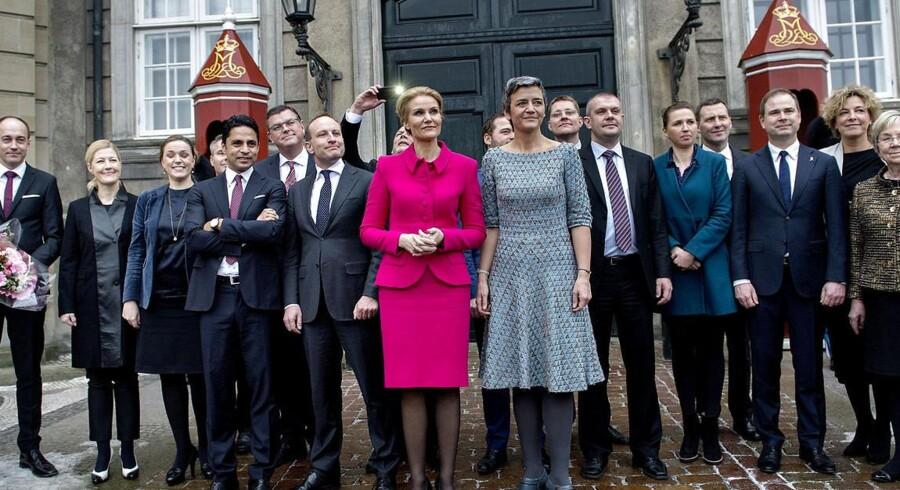 Statsminister Helle Thorning og Margrethe Vestager præsenterede 4. februar den nye regering.