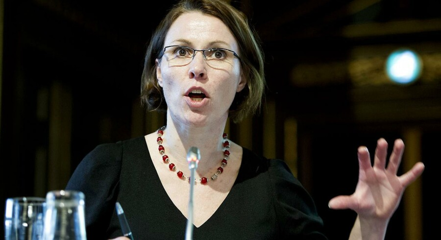 Bornholms borgmester Winni Grosbøll holder indlæg ved en national høring om atomaffald i København mandag 22. oktober 2012.