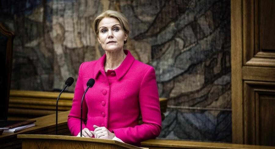 Statsminister Helle Thorning-Schmidt under sin åbningstale tirsdag.