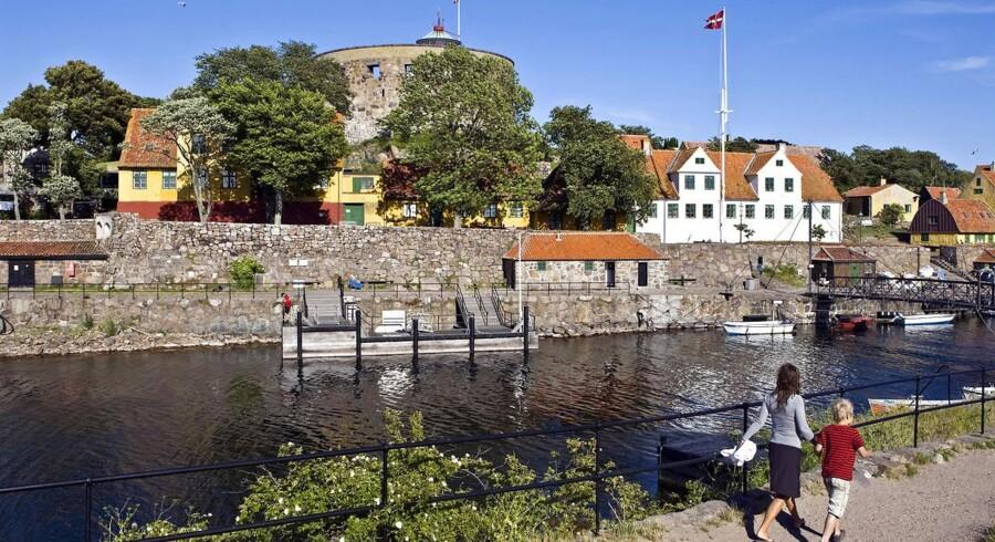 På Christiansø og Frederiksø ud for Bornholm er der slet ikke valgdag i dag, for beboerne kan ikke stemme. Arkivfoto: Nils Meilvang, Scanpix
