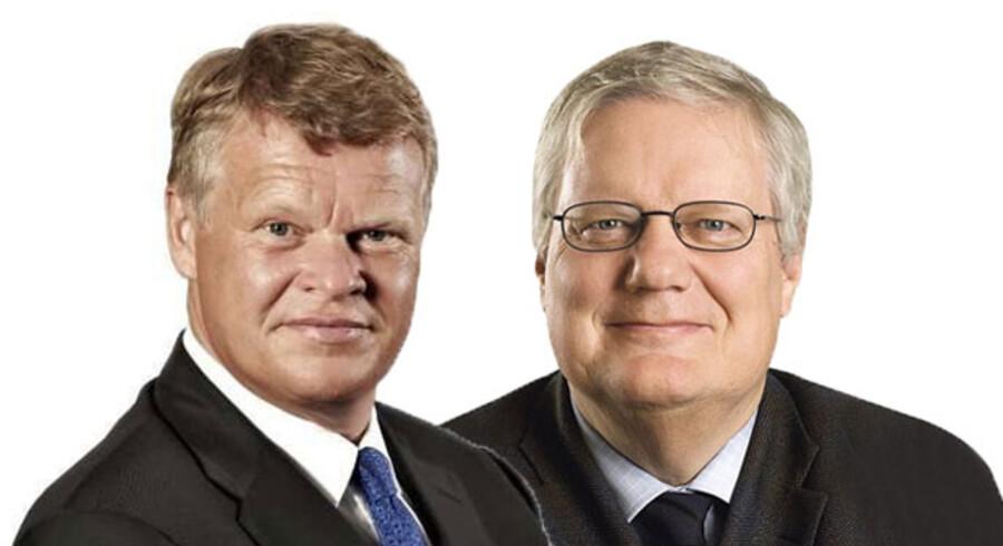 Christian T. Ingemann, direktør, Dansk Erhverv, og Bjarne Hastrup, adm. direktør, Ældre Sagen