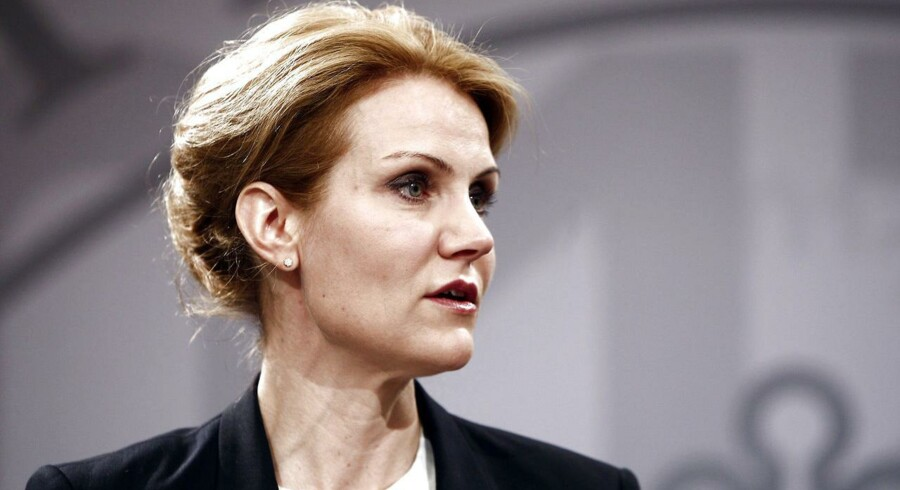 Statsminister Helle Thorning Schmidt møder medierne på det ugentlige pressemøde toirsdag den 10. april i Statsministeriet. (Foto: Asger Ladefoged/Scanpix 2012)