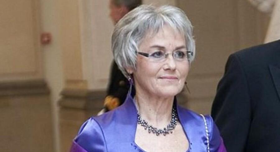 Borgmester Anny Winther fotograferet til dronningen 70-årsfødsesldag.