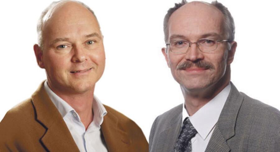 Thomas Bjørnholm (t.v.), Prorektor, Københavns Universitet og Anders Bjarklev Prorektor, Danmarks Tekniske Universitet