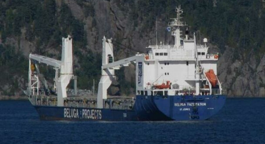 Det er skibet her, Beluga Fascination, der efter planen skulle sejle det første læs HCB fra Australien til Nyborg.
