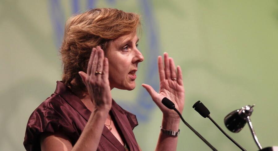- Jeg giver ikke op, og jeg vil aldrig give op, før alle muligheder er udtømt, siger EU's klimakommissær, Connie Hedegaard.
