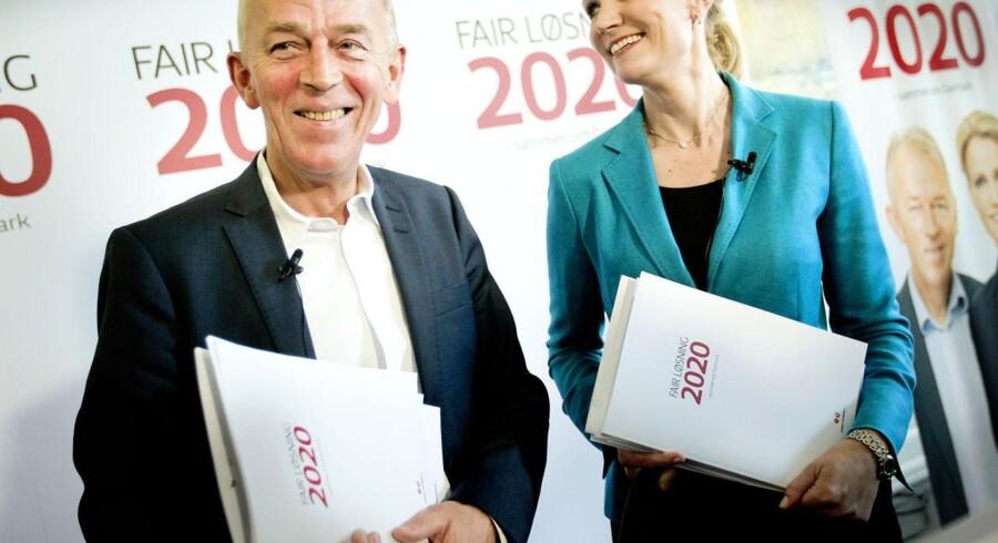 Villy Søvndal (SF) og Helle Thorning (S) fremlægger deres 2020-plan.