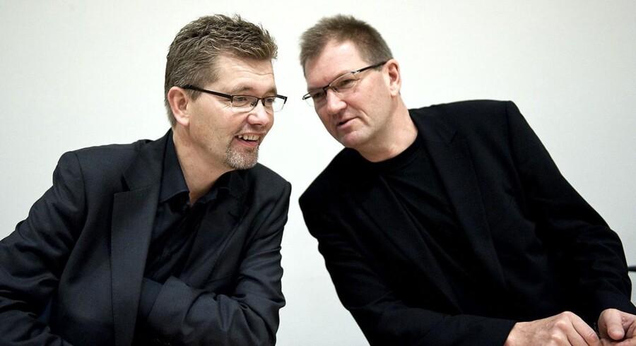 ARKIVFOTO:Københavns nye overborgmester Frank Jensen (S) taler sammen med Bo Asmus Kjeldgaard.