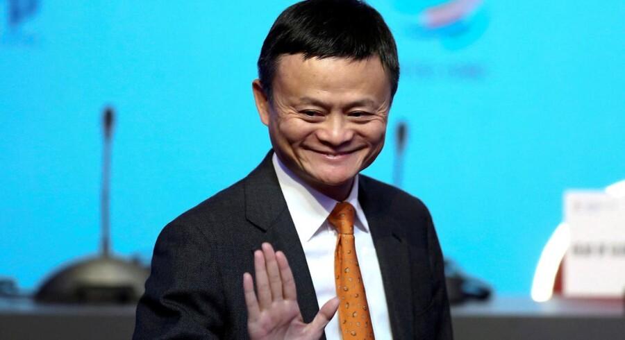 Alibabas grundlægger Jack Ma har valgt at gå på pension. Det sker på hans 54 års fødselsdag. Arkivfoto: Reuters / Marcos Brindicci / Ritzau Scanpix