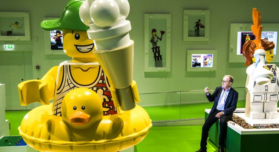 Lego ønsker at gøre sig uafhængig af plastik fremstillet af mineralsk olie og i stedet fremstille legetøjet af plantebaserede eller genbrugte materialer. Senest fra 2030, lyder planen. Her ses Kjeld Kirk Kristiansen - tredje generations ejer af LEGO Koncernen - fotograferet i Billund.