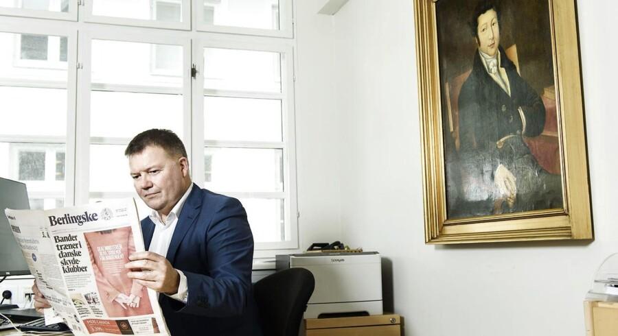 For første gang i avisens 269 år lange historie vil Berlingske signere sine ledere. Ansvarshavende chefredaktør Tom Jensen på sit kontor. Foto: Niels Ahlmann Olesen