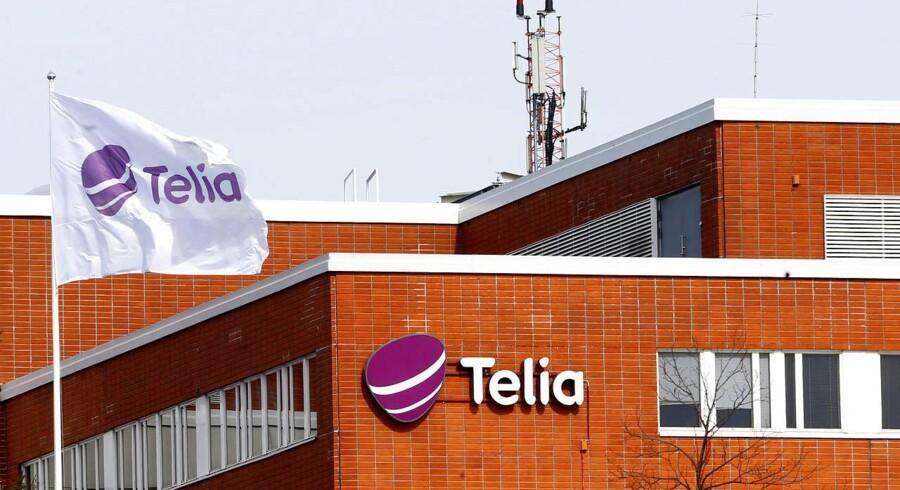 Nordens største telekoncern, Telia, risikerer at skulle have nye ejere som følge af sit kommende TV-opkøb. Arkivfoto: Ints Kalnins, Reuters/Scanpix
