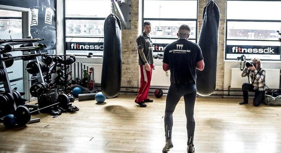 ARKIVFOTO af bokseren Patrick Nielsen, der træner i Spinderiet Fitness DK i Valby, tirsdag den 24. april 2018 (Foto: Mads Claus Rasmussen/Ritzau Scanpix)