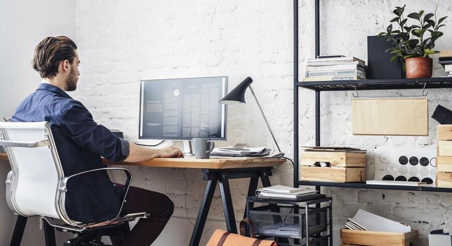 Mange flere arbejder hjemmefra med jævne mellemrum, blandt andet fordi der er ro i forhold til at sidde i et storrumskontor. Arkivfoto: Iris/Scanpix