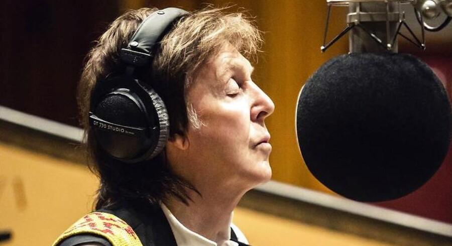Paul McCartney i studiet under indspilningen af »Egypt Station«.