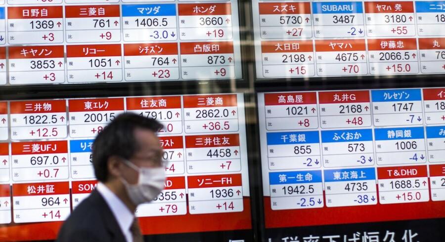 Arkivfoto. De asiatiske aktiemarkeder ligger badet i rødt onsdag morgen.