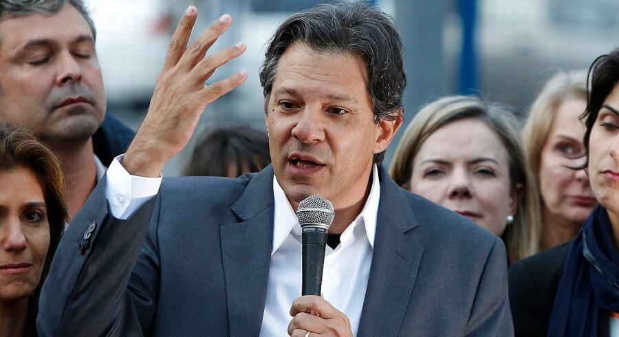 Fernando Haddad er udpeget som afløser for tidligere brasiliansk præsident Luiz Inacio Lula da Silva.
