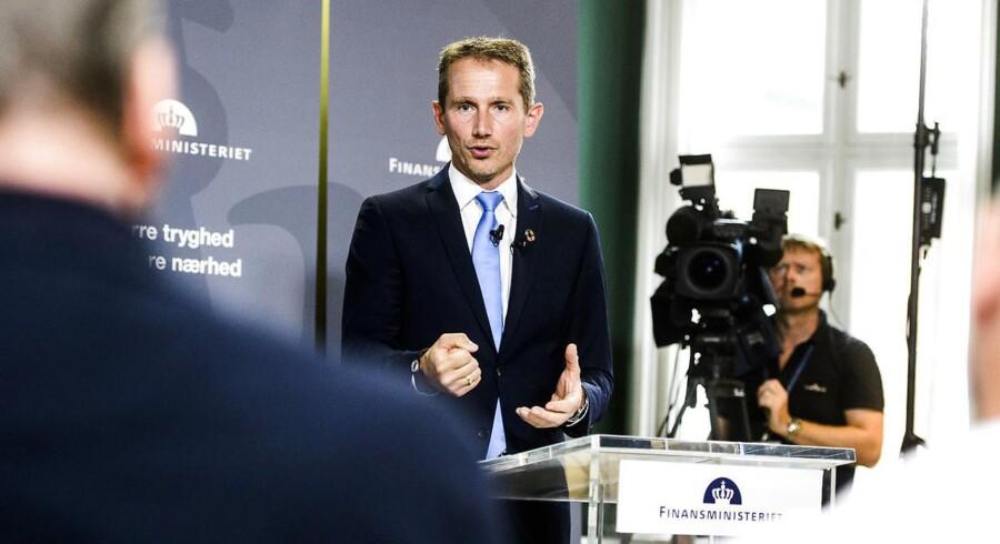 Finansminister Kristian Jensen (V) præsenterede i dag regeringens forslag til finanslov for 2019, torsdag d. 30. August 2018.. (Foto: Jonas Olufson/Ritzau Scanpix)