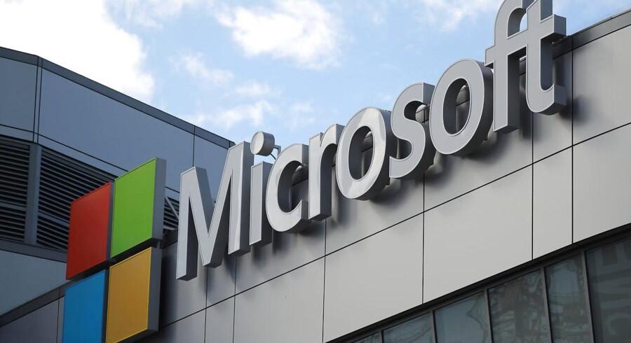 Mellemmænd købte Microsoft-software med stor rabat og solgte det videre til næsten fuld pris. Spørgsmålet er, om nogle af pengene blev brugt til bestikkelse. Arkivfoto: Lucy Nicholson, Reuters/Scanpix