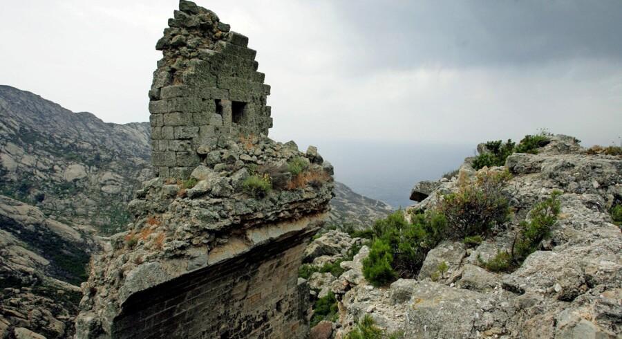 Ruiner af klosteret på Montecristo. Foto: AFP/Ritzau Scanpix