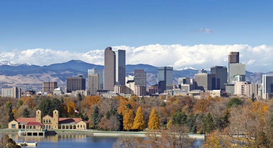 Denvers skyline med Rocky Mountains i baggrunden er et imponerende syn. Fotos: Shutterstock og Jens Henrik Nybo