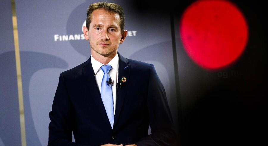 Finansminister Kristian Jensen (V) præsenterer i dag regeringens forslag til finanslov for 2019, torsdag d. 30. August 2018.