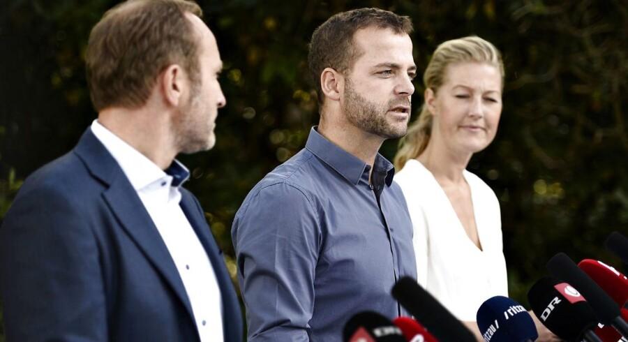 Martin Lidegaard, Morten Østergaard og Sofie Carsten Nielsen (R).