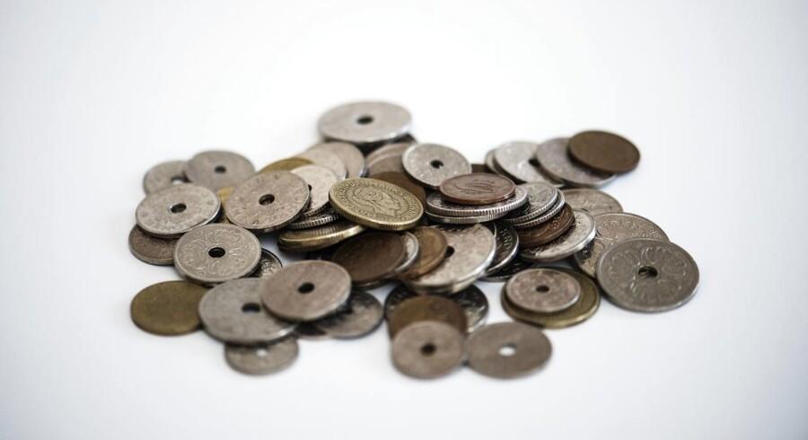 Danske mønter fotograferet torsdag den 26. juli 2018.