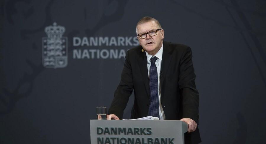Lars Rohde ved Nationalbankens pressemøde om dansk økonomi for et halvt år siden. Denne septemberdag sætter Nationalbankdirektøren på ny fokus på udsigterne for den danske økonomi.